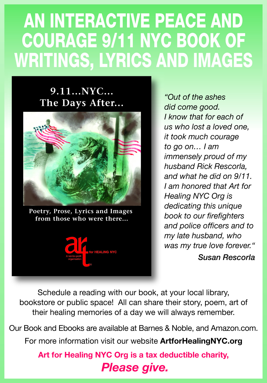 For One More Day Book Report Art For Healing Nyc Int L 911 Nyc Arts
